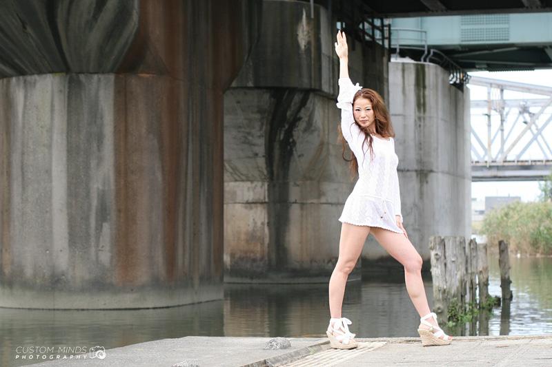 Disney dancer poses in Tokyo Japan