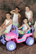 childrens dance group with jeep power wheel