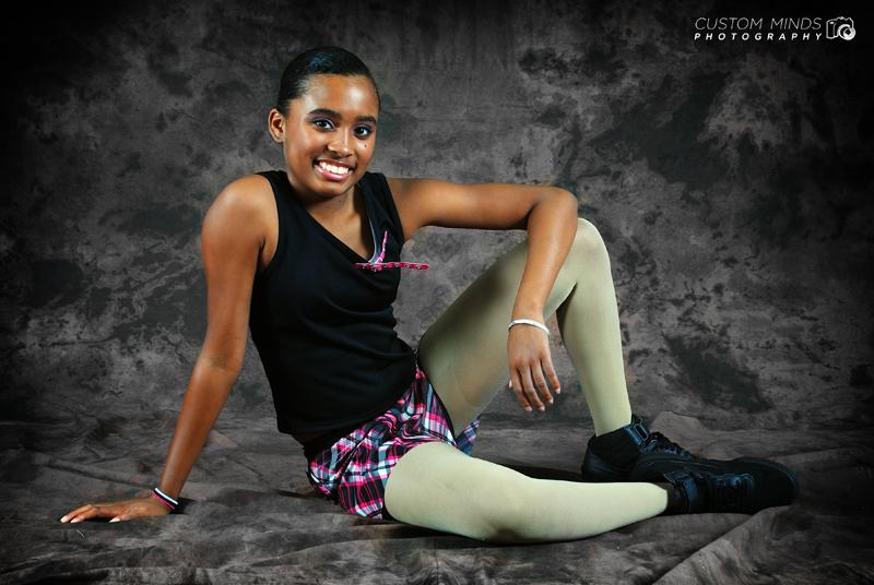 girl posing at dance studio