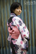 traditional kimono with metal background in tokyo japan