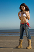 photoshoot on the beach at galveston texas