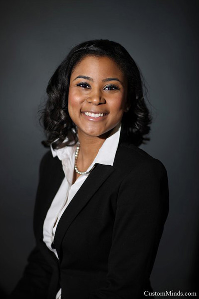 corporate portrait of business woman in a suit