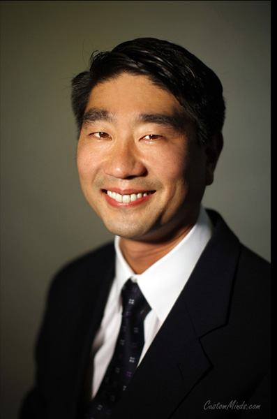 Houston business headshot with man in suit