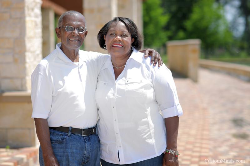 grandparents smiling in kingwood portrait