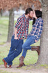 kissing by a tree in katy texas
