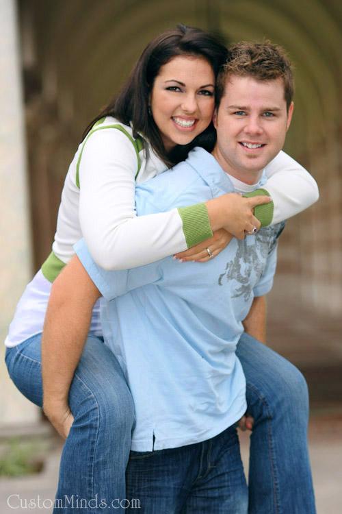 happy couple at rice university