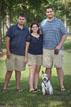 hermann park family portrait with pet