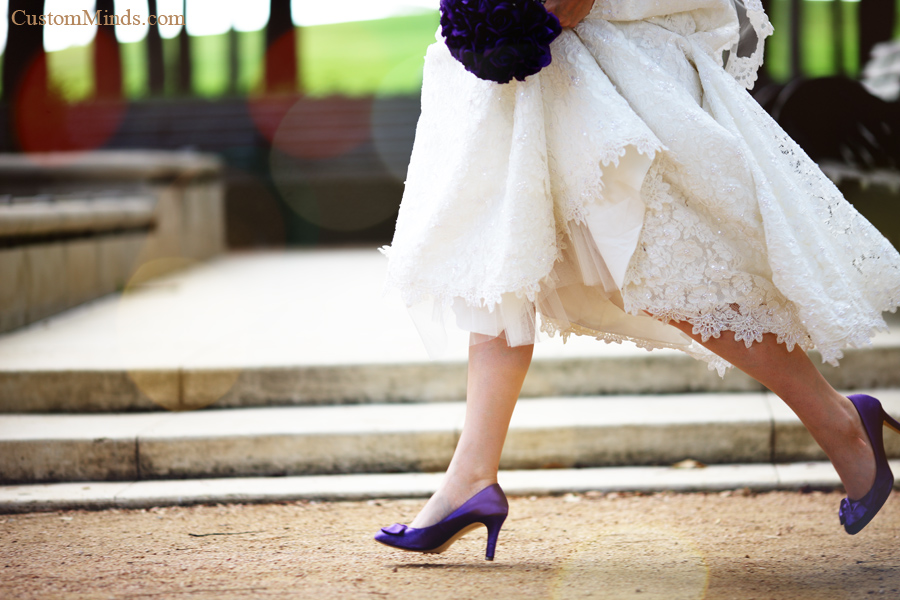 Runaway bride at Hermann Park in Houston Texas
