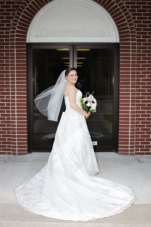 Going to the chapel on her wedding day in Tomball Texas