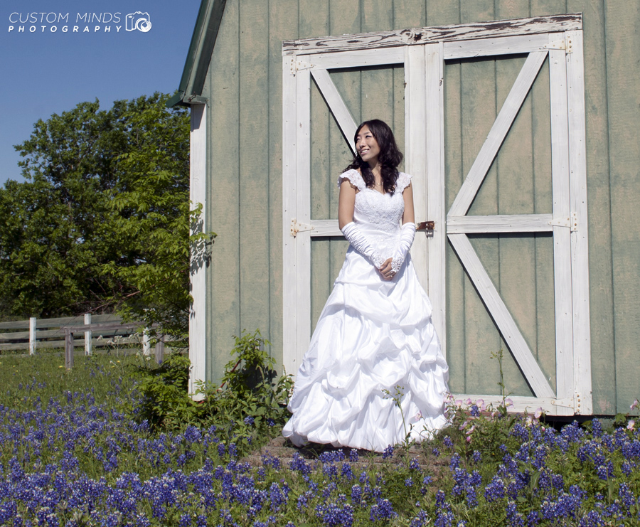 Bridal Portrait with the Bluebonnets in Navasota Texas