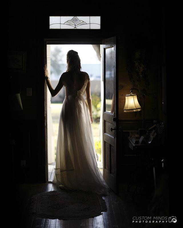 Standing at the door of Oak Tree Manor in Spring Texas