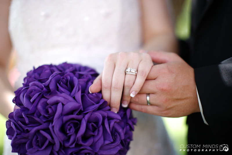 Displaying the rings after the wedding ceremony
