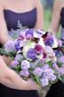 Bridesmaids unite bouquets