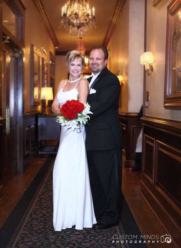 Bride and Groom at Maggiano's Little Italy Restaurant near the Houston Galleria