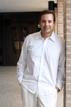 Groomsman poses at Chapelwood Methodist Church in Houston texas