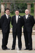 Groomsmen posing before the ceremony in Richmond Texas