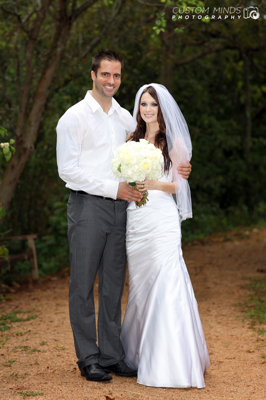 Happy Bride and Groom at the Houston Arboretum