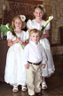 Flower girls and the Ring bearer for Sugarland Wedding