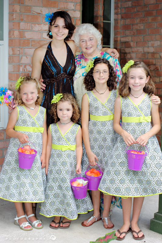 Kingwood wedding and reception with flower girls