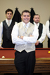 Groom and Groomsmen at Briscoe Manor pool table in Richmond Texas