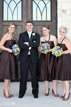 Groom and Bridesmaids at Briscoe Manor in Richmond Texas