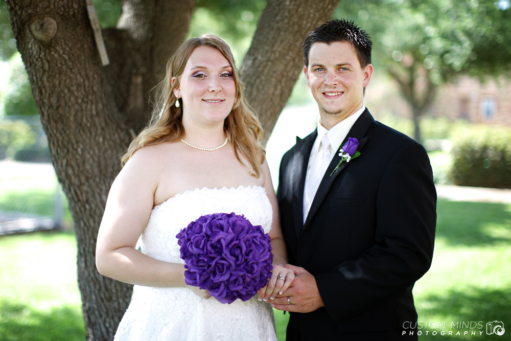 Bride and Groom near Spring Texas after the ceremony