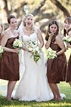 Bridal party laughing and having fun near Corpus Christi Texas