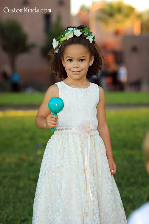 Flower Girl at the reception near Corpus Christi Texas