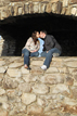 Kissing during a Pheonix Arizona engagement session