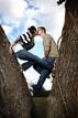 Kissing in a tree at Katy Texas