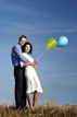 Pearland engagement session with ballons