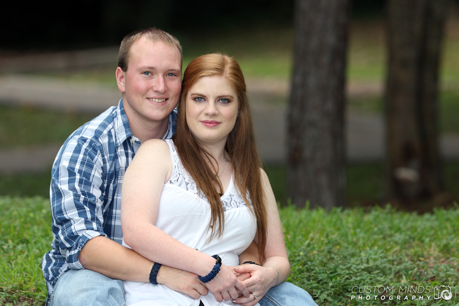 Fun group of photos from an engagement session in Hermann Park