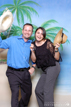 Michael and Reema testing the photo booth equipment