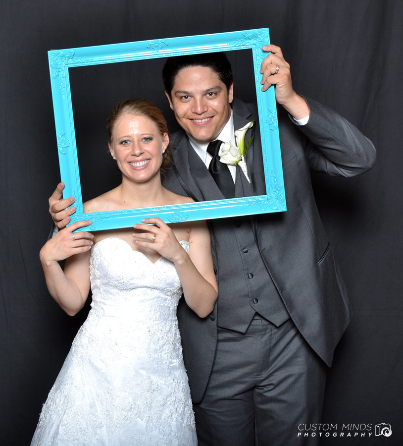 Pearland wedding photo booth with the Bride and Groom