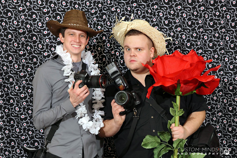 Patrick and Carl taking a few minutes away from work to pose in the photo booth