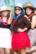 Having fun at the Houstonian Club photo booth