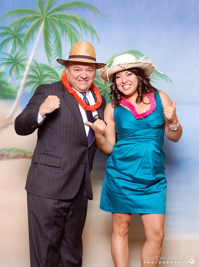 Fun photo booth at the Houstonian Club in Houston Texas