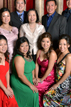 Family members pose at the wedding booth at Jasmine Asian Cuisine on Bellaire and Beltway 8
