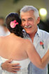 Father of the Bride smiles during his dance at the reception