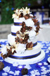 Beautiful wedding cake with flowers in San Antonio Texas