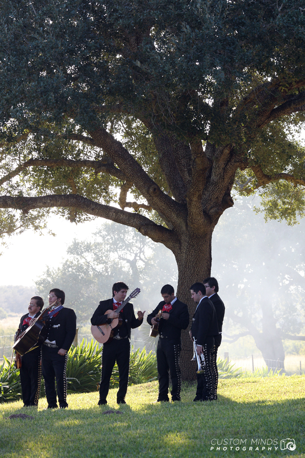Mariachis preparing for the wedding in Alice Texas by Corpus Christi