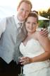 Bride and Groom celebrating at their wedding in Navasota Texas