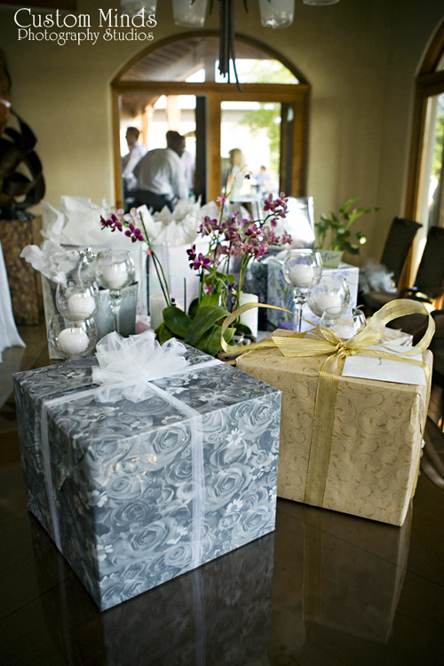 wedding presents at the reception